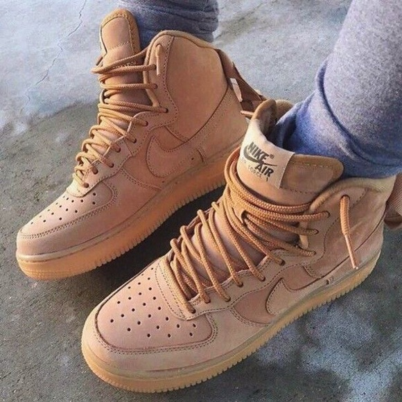 NIKE AIR FORCE 1 ONE HIGH FLAX WHEAT AF1